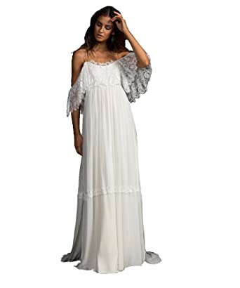 Tianshikeer Boho Hochzeitskleid Chiffon Spitze Lang Sexy Brautkleid ...