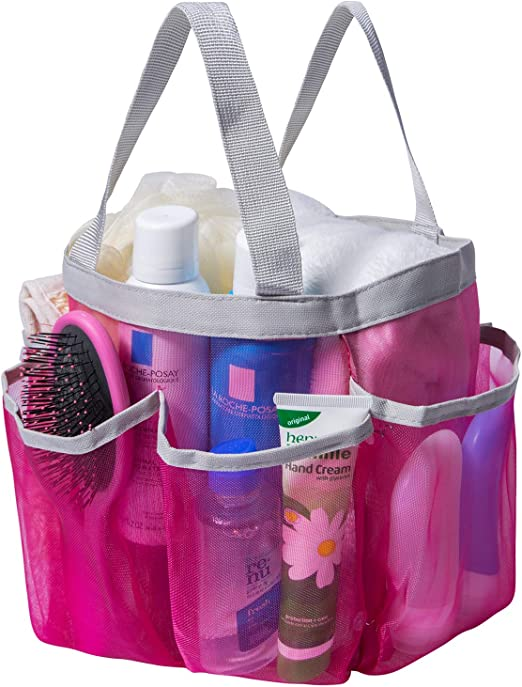 Quick Dry Shower Tote Caddy Bag 8 Mesh Storage Pockets Toiletry /& Bath Organizer