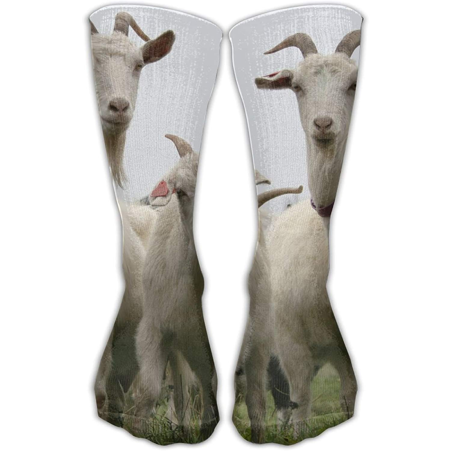 ETcRe Unisex 3 Goat Fashion Crew Sock Athletic Ankle Dress Sock One Size