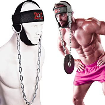 Head Harness For Neck Exercise Adjustable Belt Chain Weight lifting GYM Training