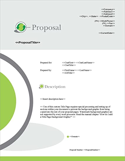 Amazon proposal pack environmental 3 business proposals proposal pack environmental 3 business proposals plans templates samples and software flashek Gallery