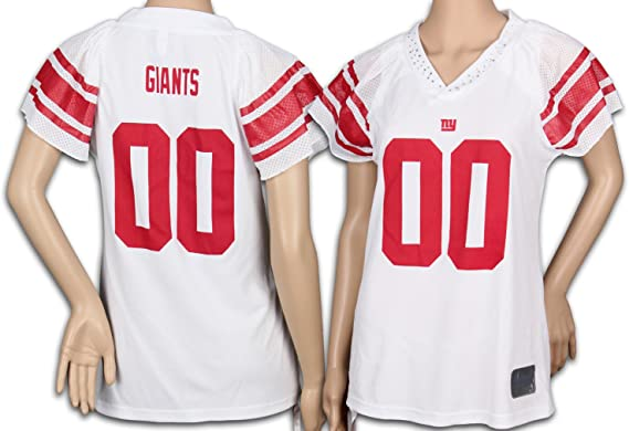 Reebok New York Giants NFL Womens Team Field Flirt Fashion Jersey, White