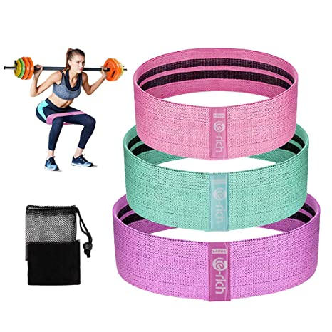 3460ac68a Amazon.com   Te-Rich Fabric Resistance Loop Exercise Bands