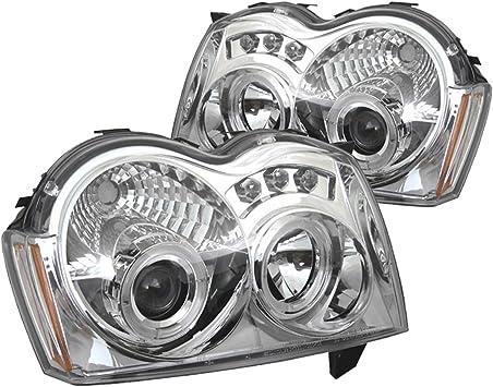 Spyder Auto Jeep Grand Cherokee Chrome Halogen LED Projector Headlight