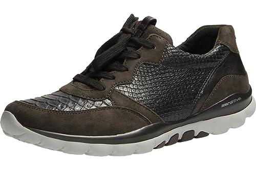 9267fa2ca36312 Gabor Halbschuhe in Übergrößen Grau 56.968.83 große Damenschuhe  Amazon.de   Schuhe   Handtaschen