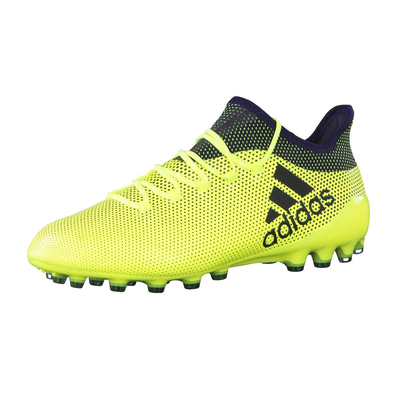 Jaune (Amasol Tinley Tinley) 44 2 3 EU adidas X 17.1 AG, Chaussures de Football Homme