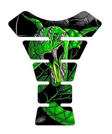 Amazon.com: Venom Skull serpiente verde 3d gel Gas Tankpad ...