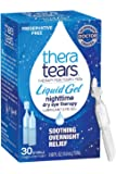 Thera Tears Eye Drops for Dry Eyes, Nighttime Dry Eye Therapy Lubricant Eyedrops, Preservative Free, 30 Count Single-Use Vials, Clear