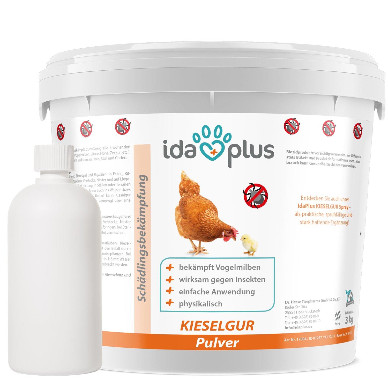 Ida Plus - Kieselgur (12 Liter) - Kieselerde Pulver für Hühner ...