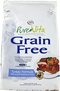 Tuffy'S Pet Food 131642 Tuffy Pure Vita Grain Free Turkey And Sweet Potato Food For Dogs, 15-Pound