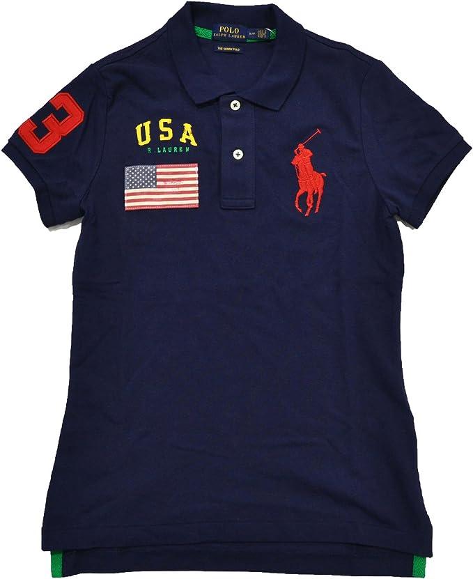 Polo Ralph Lauren Big Pony Polo de Estados Unidos Skinny – Malla ...