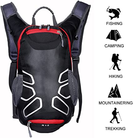 Hot Bike Cycling Riding Backpack 15L Nylon Sports Bag For Outdoor Waterproof
