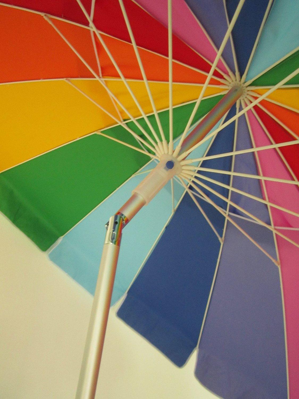 Amazon.com : Beach Umbrella Rainbow Color with Carry Bag - 8 Foot ...