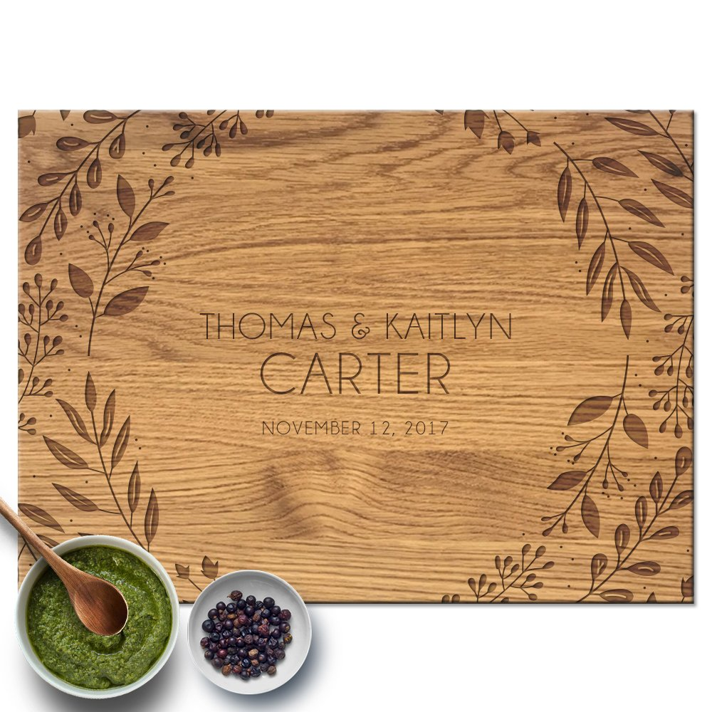 Froolu Elegant Leaves personalized wood cutting boards for Real Estate Agent Closing Gifts Gifts