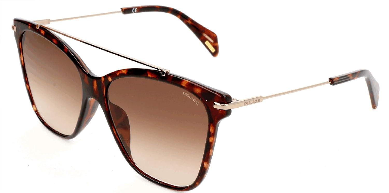Police Sonnenbrille SPL404 Gafas de sol, Marrón (Braun), 55.0 para Mujer