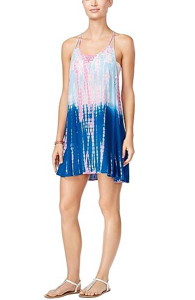 52ecfa8f930b0 Raviya Women's Tie Dye Ombré Racerback Beach Cover-Up Dress (Large, Pink/