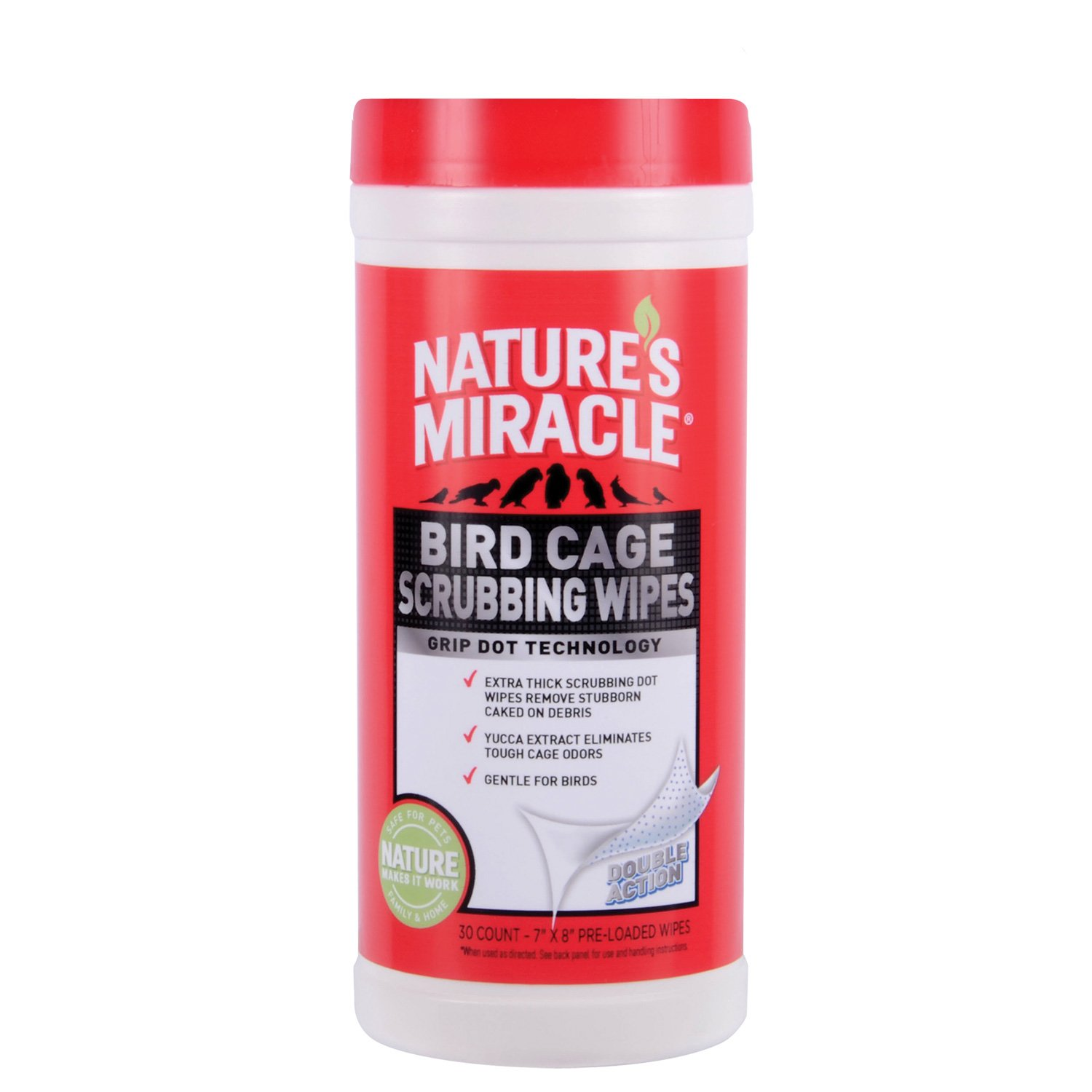 Nature's Miracle 30 Count Bird Cage Scrubbing Wipes