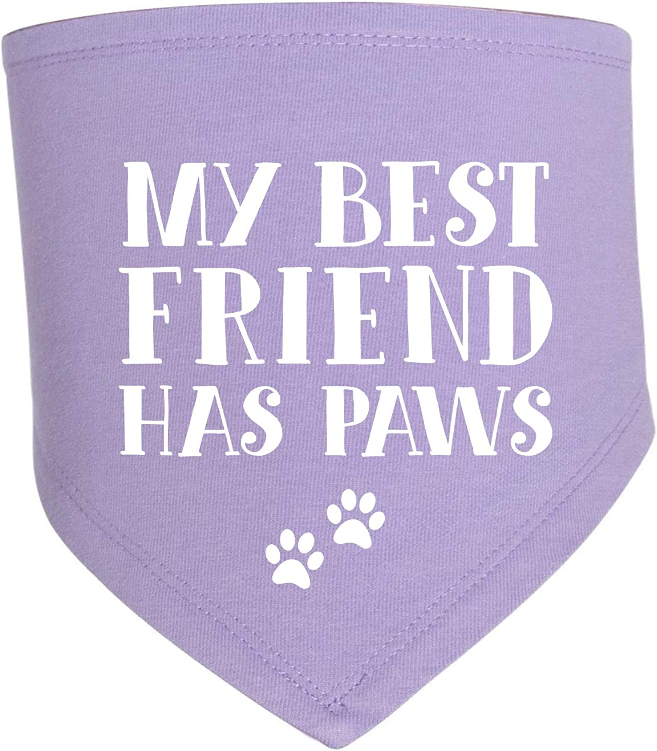 My Best Friend Has Paws Triangle Premium Baby Bib (Assorted Colors) Dog Sibling Sister Brother