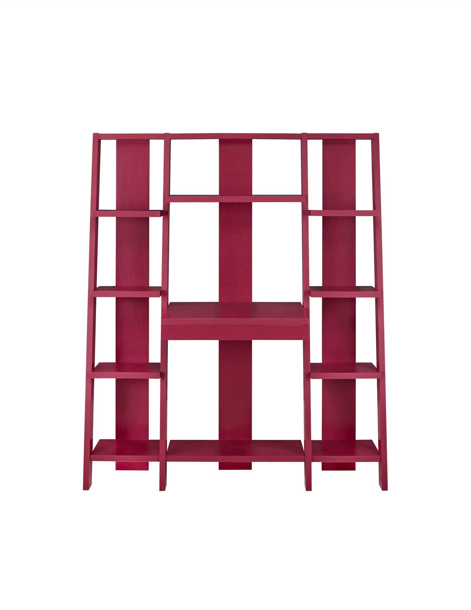 Altra Tiffany Ladder Desk/Bookcase, Red