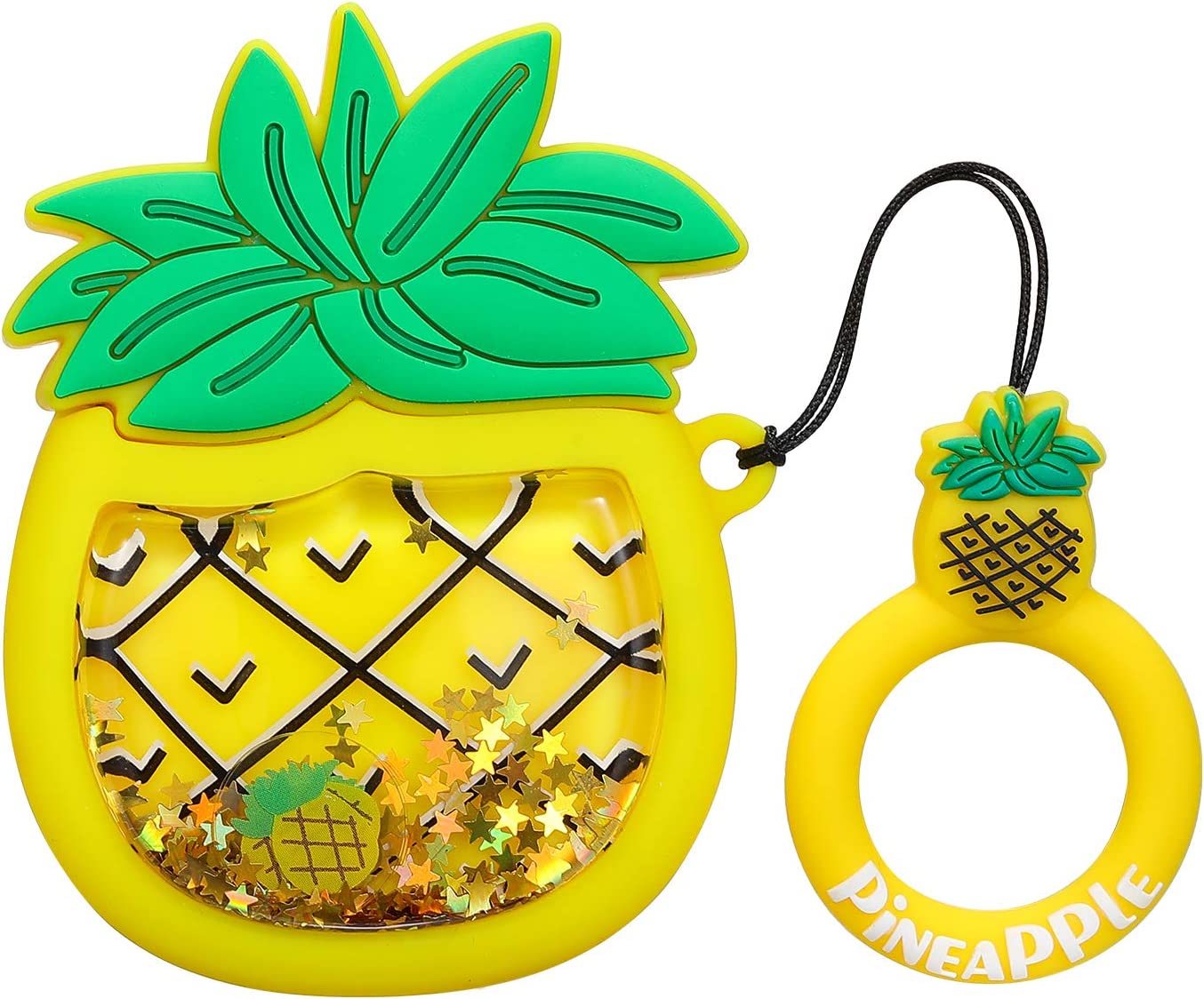 3D Funny Kawaii Fun Cool Design Skin Designer Fashion Cases for Girls Kids Teens Boys Air pods Pineapple Gift-Hero Compatible with Airpods 1/&2 Case,Cute Cartoon Character Soft Silicone Airpod Cover