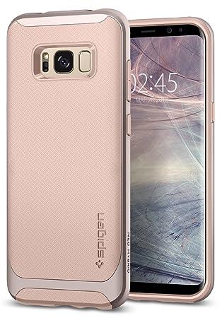 spigen Funda Galaxy S8, Carcasa [Neo Hybrid] Protección Interna Flexible y Marco Reforzado de Parachoques Duro para Galaxy S8 (2017) - Pale Dogwood