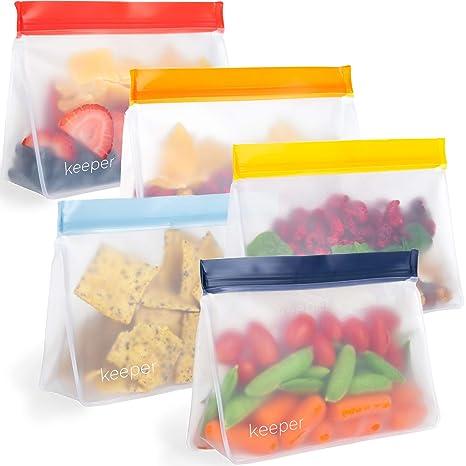 Amazon.com: Keeper Bolsas reutilizables para aperitivos ...