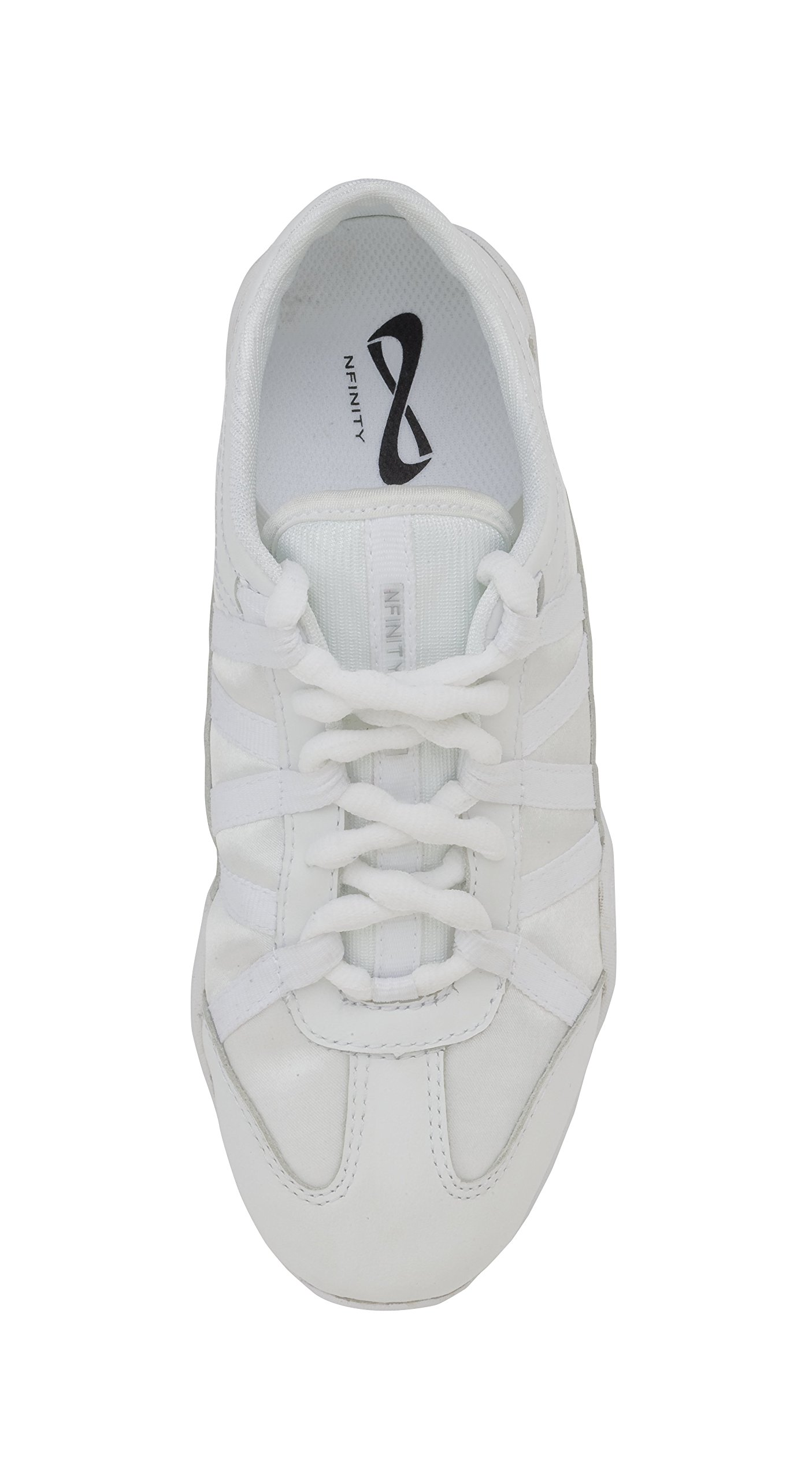 Nfinity Youth Evolution Cheer Shoes, White, Y13 by Nfinity (Image #5)