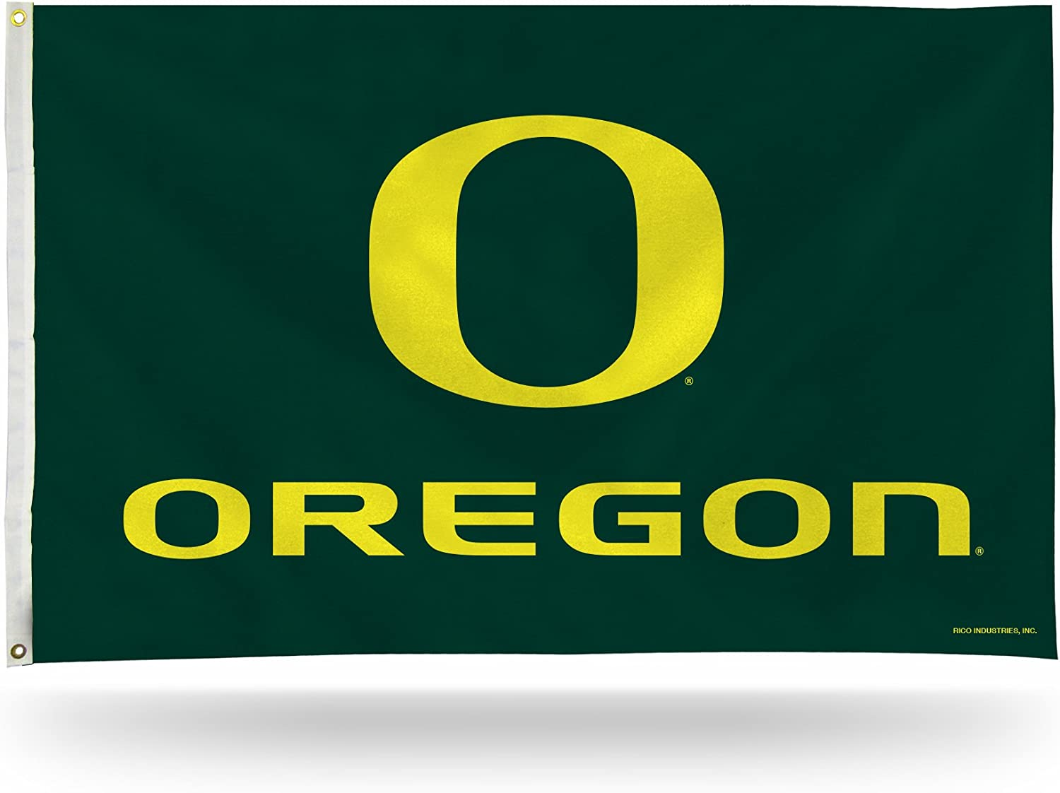 Rico Industries FGB510103NCAA Oregon Ducks 3-Foot by 5-Foot Single Sided Banner Flag with Grommets