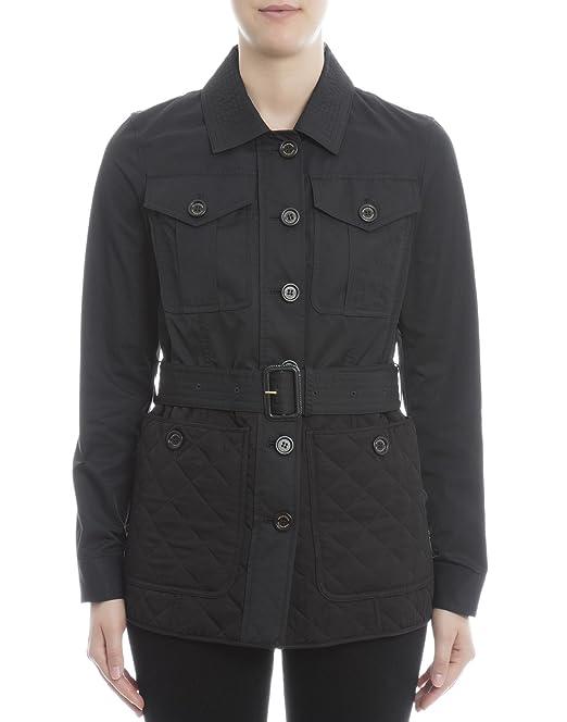 verdadero negocio Página web oficial amplia selección de colores y diseños Burberry Mujer 4049877 Negro Poliamida Cazadora: Amazon.es ...