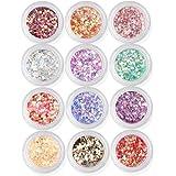 Gellen Diamond Sequins Acrylic 12 Colors UV Gel DIY Glitter Decoration Nail Art Sequins Powder Set