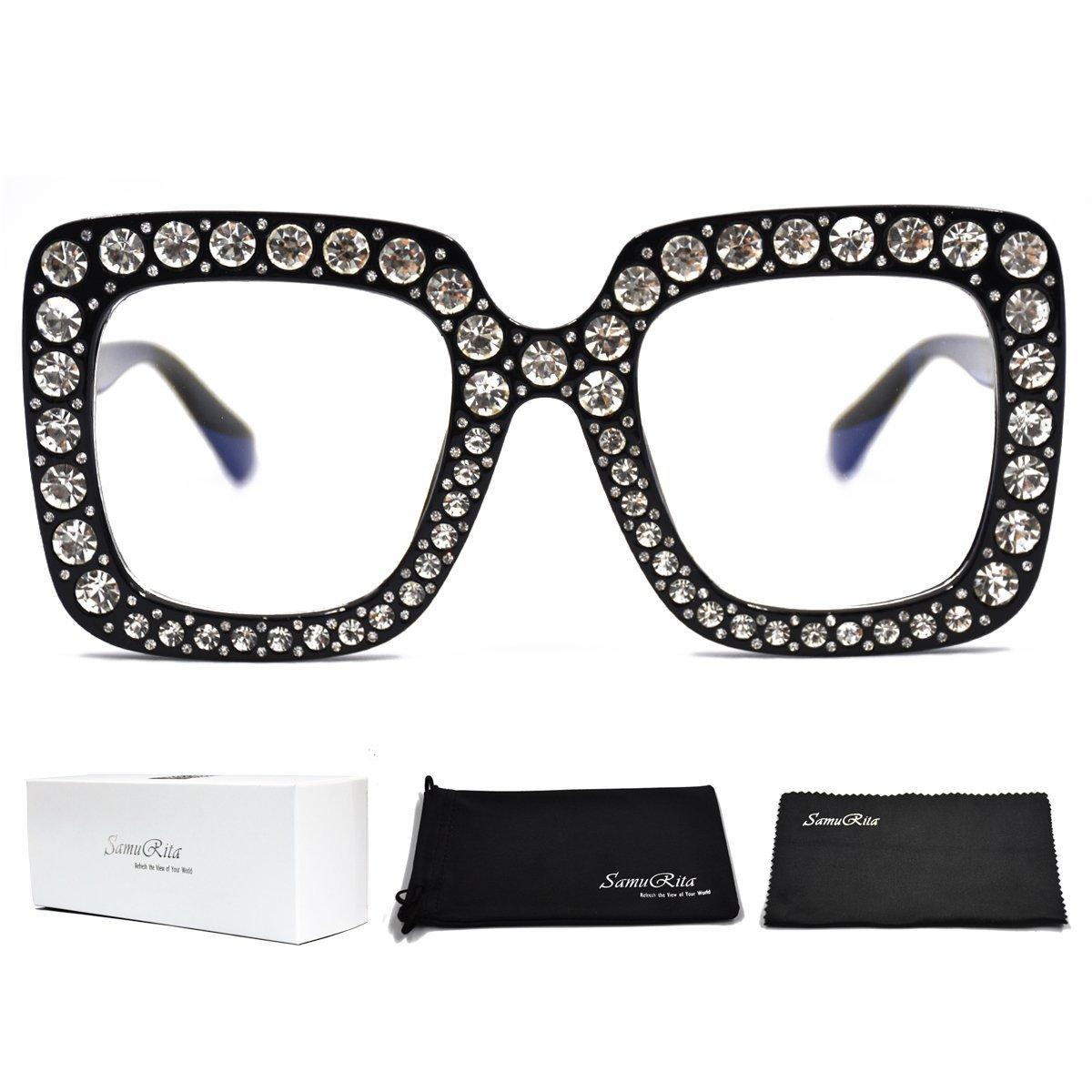 Amazon.com: SamuRita Elton - Gafas de sol cuadradas con ...
