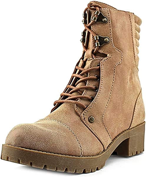 1cf6daacd Amazon.com | G by GUESS Women's Meara Moto Bootie, Dark Natural, 9.5 ...