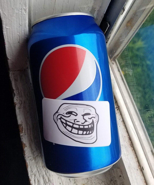 20PCS Troll Face Meme Stickers Gag Prank Decal Hard hat Labels Internet Online