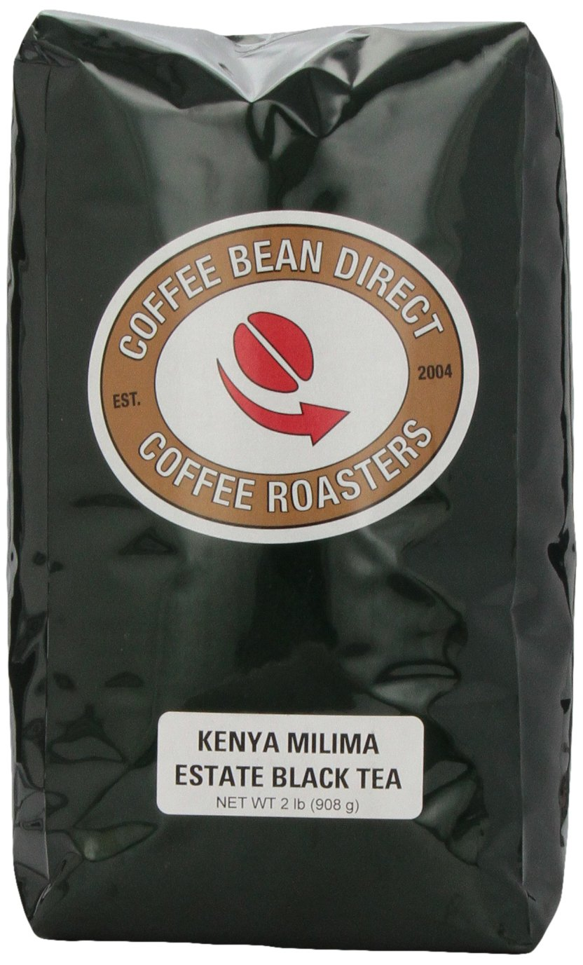 Coffee Bean Direct Kenya Milima Estate Loose Leaf Tea, 2 Pound Bag by Coffee Bean Direct