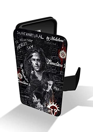 Supernatural Angels Demons Faux Leather Phone Case for iPhone 6 & iPhone 6s