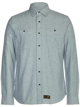 Comaba Mens Slim Long Sleeve Button Down Printing Lapel Fashion Tops Shirt