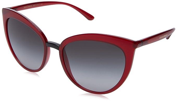 Dolce   Gabbana 0DG6113 30918G 55, Montures de Lunettes Femme, Rouge  (Transparent Bordeaux Greygradient)  Amazon.fr  Vêtements et accessoires 297f55520a9f