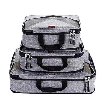 Amazon.com: Juego de 3 cubos de compresión para equipaje de ...