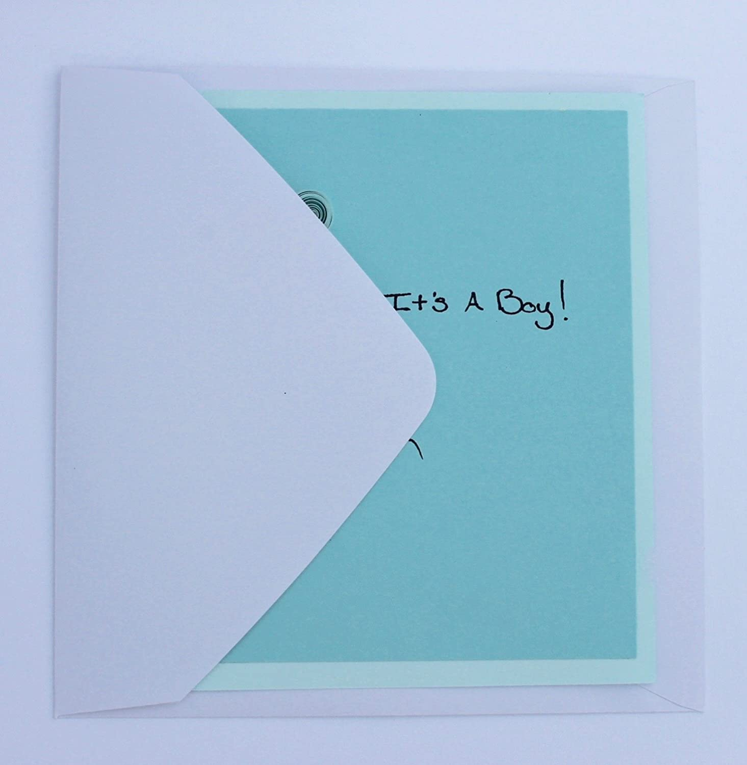 Its A Boy Balloons Quilled Card