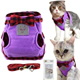 Bolbove Cute Kitty Bowtie Lovely Plaid Jacket
