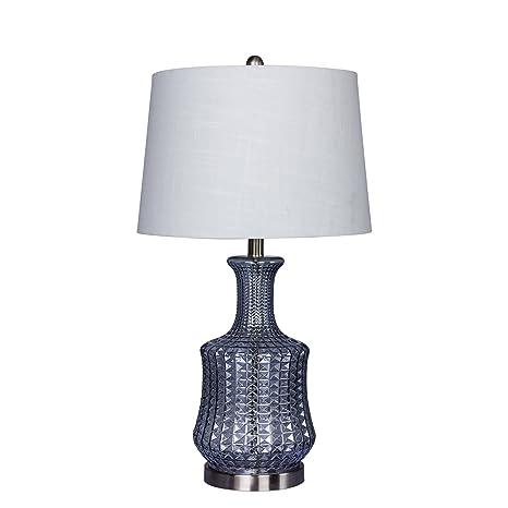 Martin Richard W 5156lb Table Lamp 27 5 Light Blue Brushed Steel