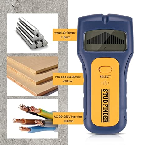3 in 1 Metal/Voltage/Stud Detector, Stud Wood Wall Center Finder Scanner