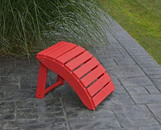 product image for Outdoor Poly Folding Ottoman - Poly Lumber - Amish Bright Red