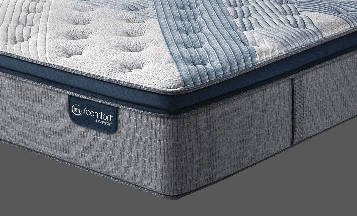 Serta Icomfort Hybrid 16'' Blue Fusion 5000 Cushion Firm Conventional Bed Mattress, King, Gray by Serta