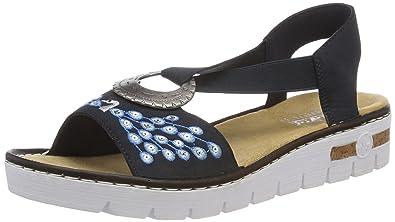 Rieker Damen 610d2 Geschlossene Sandalen