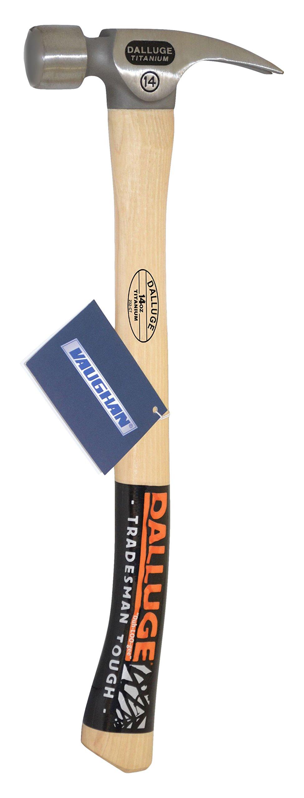 Dalluge 14oz Titanium Hammer, Smooth Face Axe Handle #07176