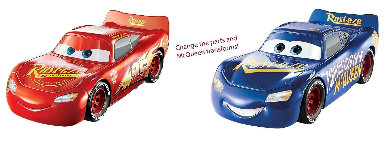 Mattel FCV95 Disney Cars3 3-in-1 Rennfahrzeug Lightning McQueen mit Sound Film- & TV-Spielzeug