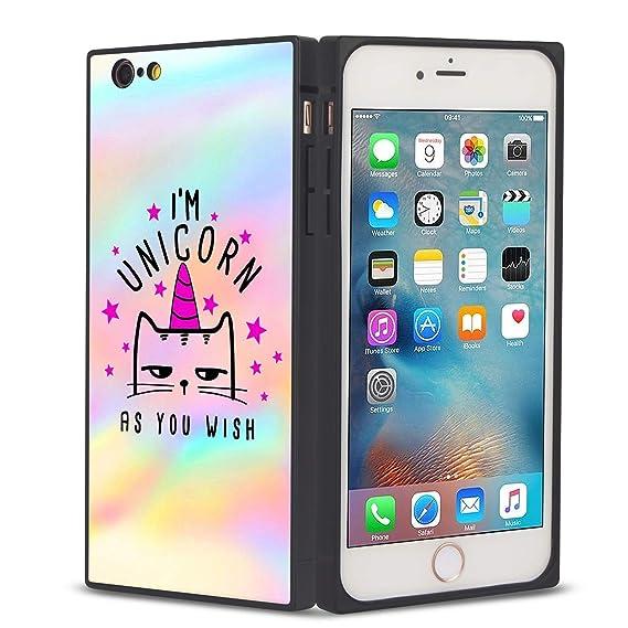finest selection 3bdf4 414cf Amazon.com: Square I'm Unicorn As You Wish iPhone 7/8 Case, JQLOVE ...