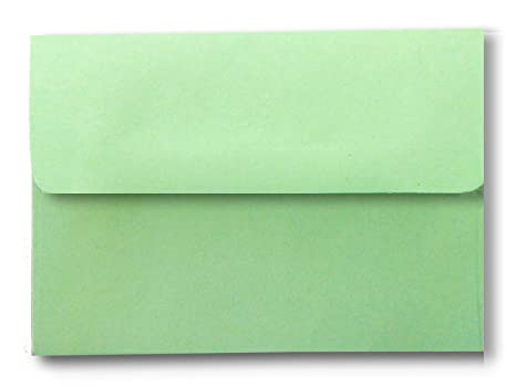 amazon com green pastel 50 boxed 5 1 4 x 7 1 4 a7 envelopes for