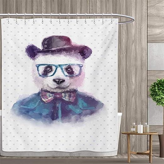 Colección de cortina de ducha divertida y divertida de la marca Smyfly por Gatito Pareja Dulce